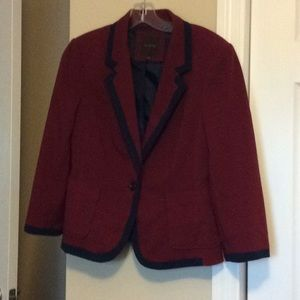 The Limited Navy and Wine Jacket